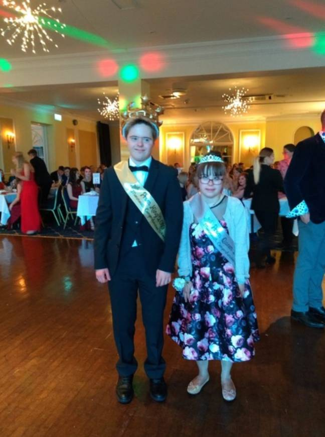 The happy couple were crowned prom king and queen. Credit: James Davies/TBM