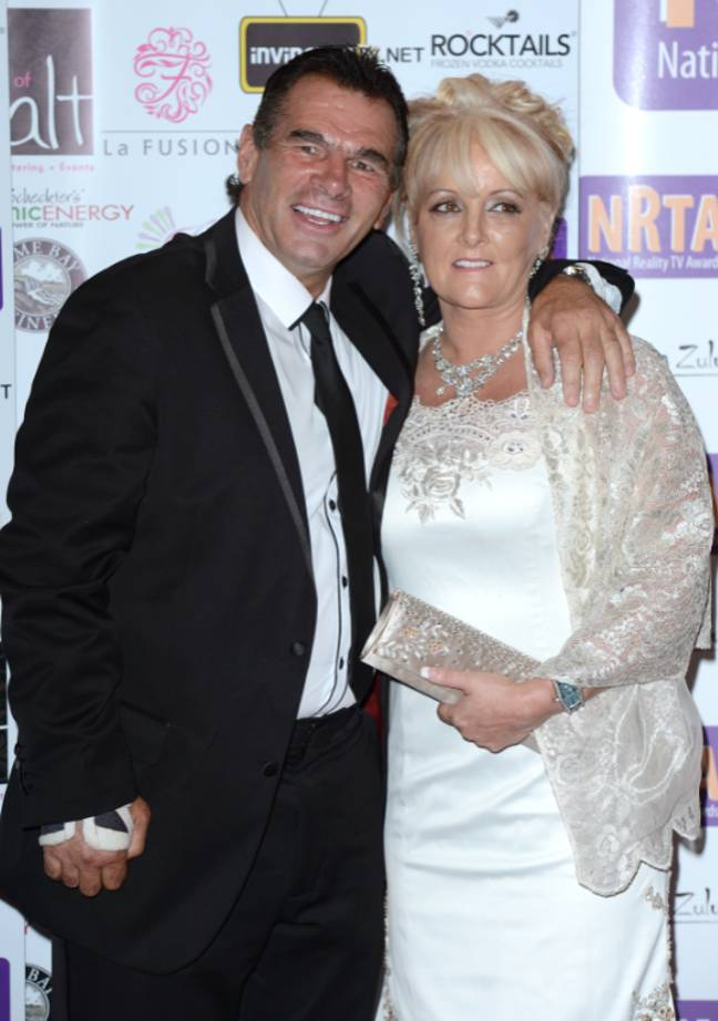 Paddy with wife Roseanne in 2012. Credit: PA