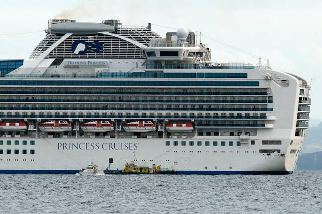 Ten people have tested positive for the virus on board the ship. Credit: PA