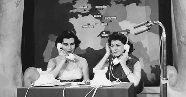 Eurovision 1957 presenter and her