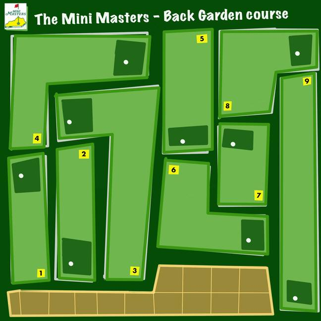 Sam planned the Mini Masters on his iPad before creating it in his garden. Credit: LADbible