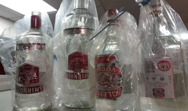Fake vodka on sale in Hull. Credit: LGA
