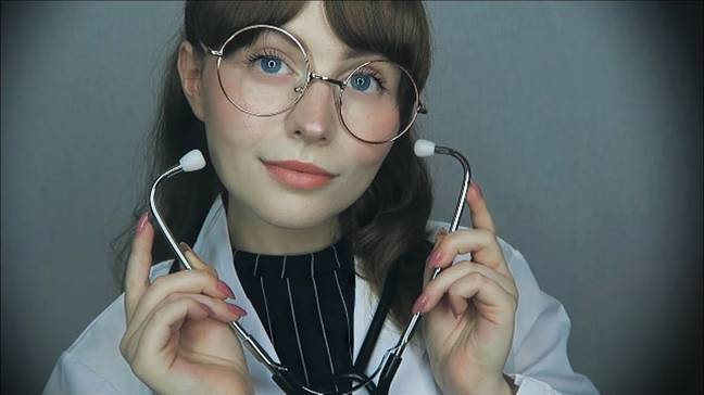ASMR artist, Sophie Michelle, sometimes dresses as a mermaid or a doctor. Credit: PA Real Life