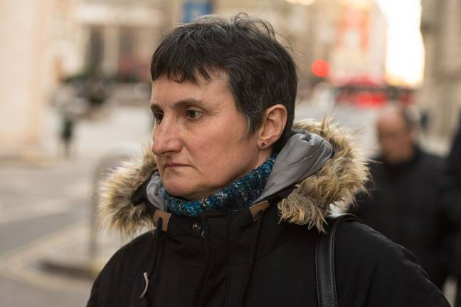 Sophie Lionnet's mother Catherine Devallonne outside the Old Bailey. Credit: PA