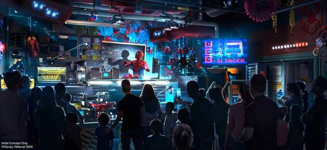 A Spider-Man-themed ride will be the first to open. Credit: Disney/Marvel