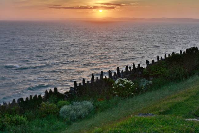 A sunset view from The Druidstone Hotel. Credit: Alamy
