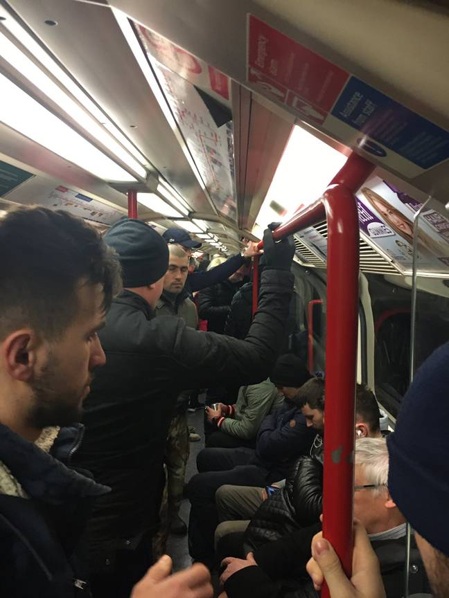 Train companies and the government have been criticised for the packed carriages.