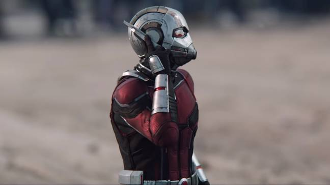 Ant-Man receives his less-than-ideal orders. Credit: Marvel