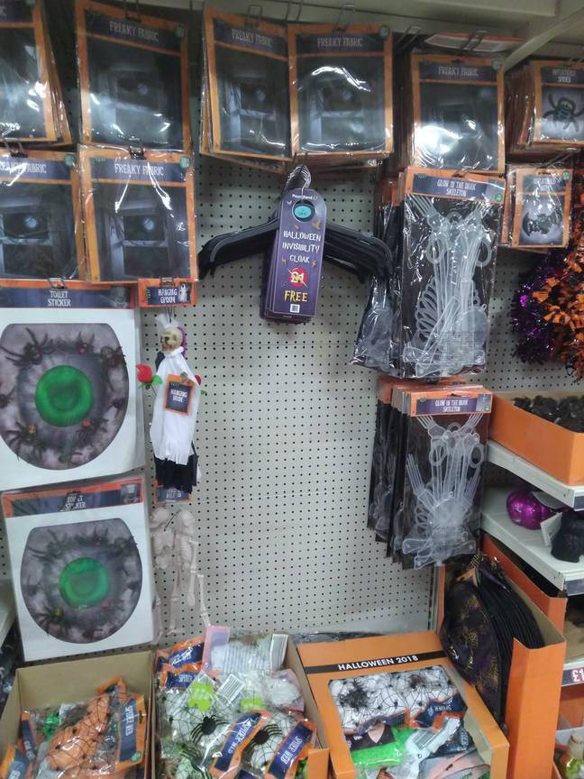 Here are the invisibility cloaks in all their glory. Credit: Poundland