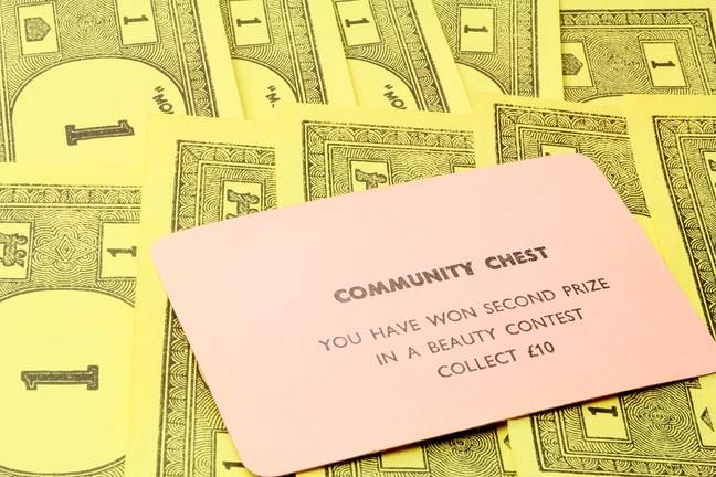 One of the original Community Chest cards. Credit: Shutterstock