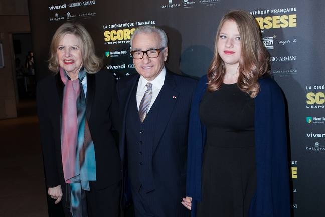 Martin and Francesca Scorsese with Helen Morris. Credit: PA