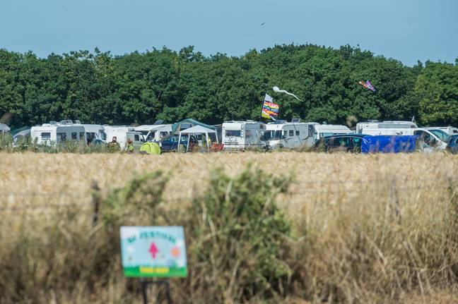 Plenty of caravans if you don't fancy the two person tent option. Credit: SWNS