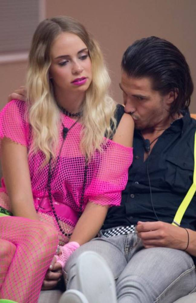 Tully with her Anthony Drew whom she met on Big Brother in 2013. Photo: Channel 9.