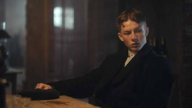 Kirton as Finn Shelby. Credit: BBC