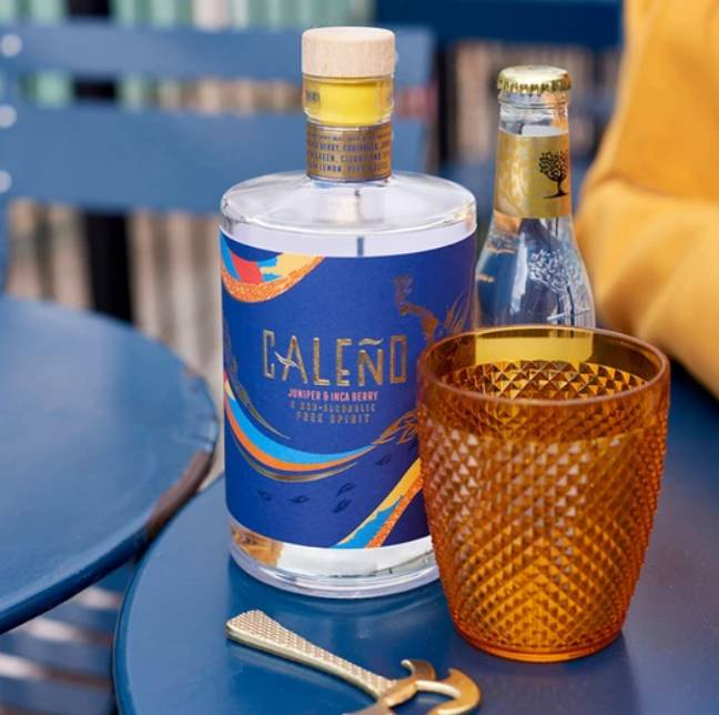 Caleño's Juniper & Inca Berry non-alcoholic gin. Credit: Caleño