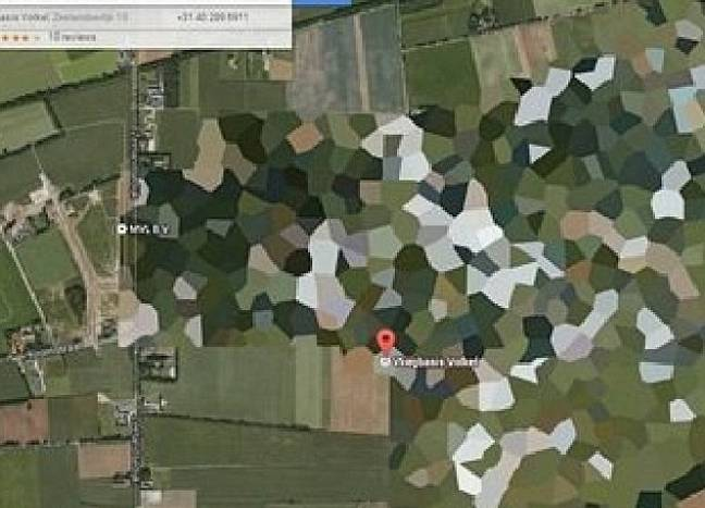 The Volkel Air Base Has Been Covered Up. Credit: Google