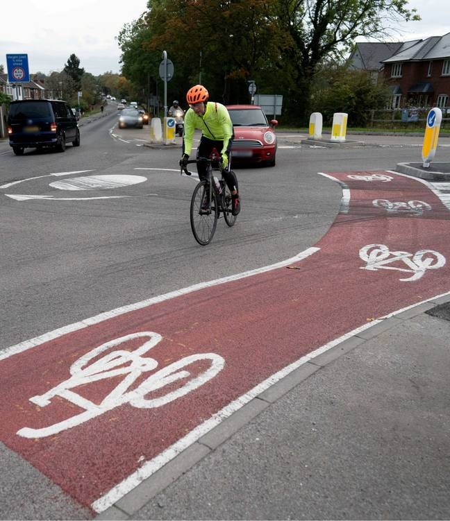 The council claims it isn't actually a cycle lane. Credit: SWNS