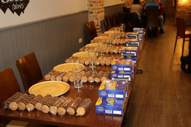 That's a lot of Jaffa Cakes. Credit: SWNS