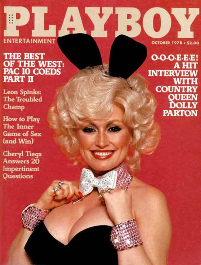 Dolly Parton on the cover of Playboy in 1978. Credit: Playboy