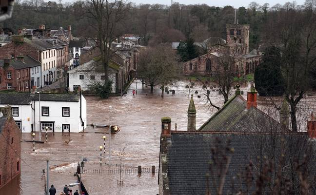 Appleby-in-Westmorland, Cumbria is already suffering from flooding from Storm Ciara. Credit: PA