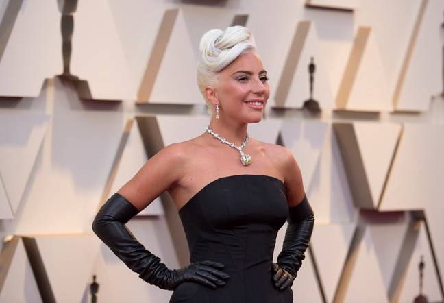Lady Gaga on the red carpet. Credit: PA