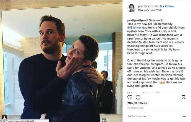 Credit: Chris Pratt/Instagram