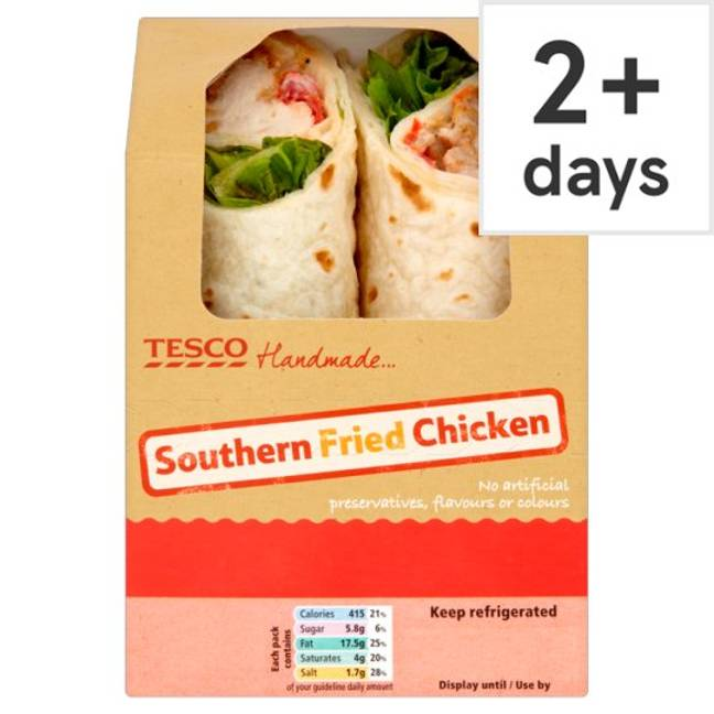 Lizzie's meal deal favourite is the southern fried chicken wrap. Credit: Tesco