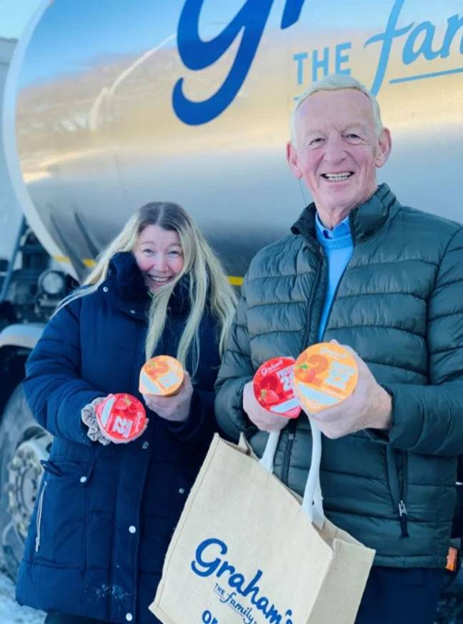 Charlene Leslie has been given a year's supply of free milk as a thank you. Credit: Graham's