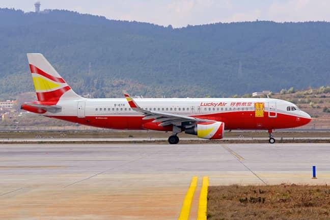 A Lucky Air plane on a runway. Credit: Facebook/Lucky Air