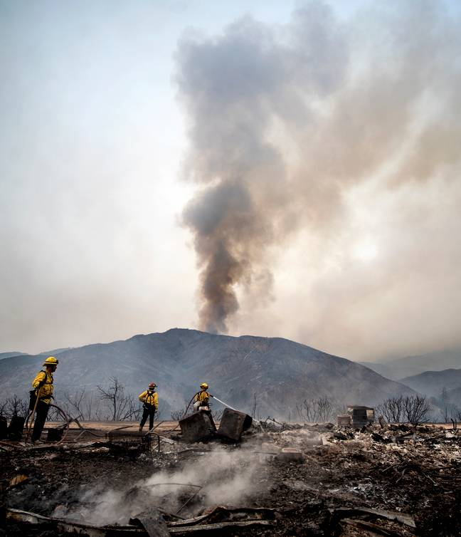 The El Dorado fire has ripped through more than 7,000 acres of land. Credit:  Cindy Yamanaka/AP/PA