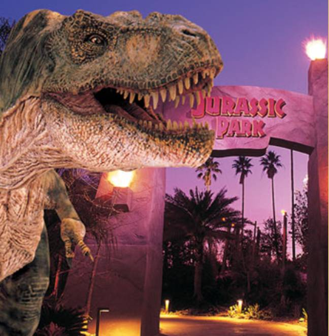The Jurassic Park ride in Orlando was nearly identical. Credit: Universal Studios
