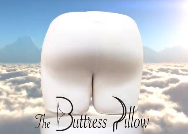 The pillow comes in three colours. Credit: The Buttress Pillow