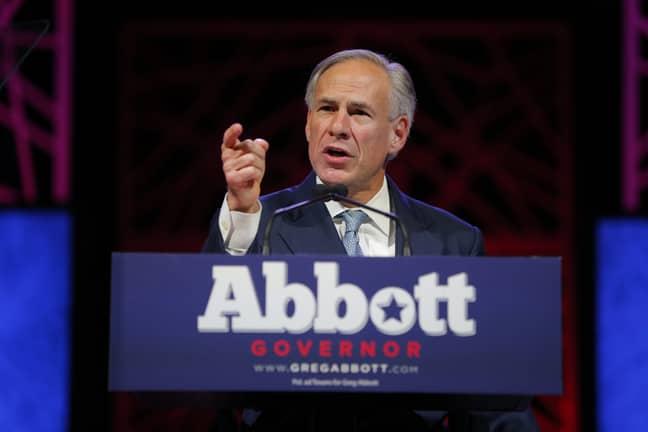 Texas Governor Greg Abbott. Credit: PA