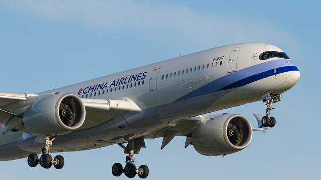 A China Airlines flight reported the sighting. Credit: PA