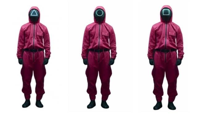 Squid Game guard costume. (Credit: Amazon)