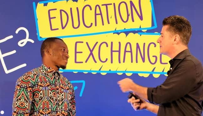Richard Appiah Akoto and Anthony Salcito. Credit: Microsoft