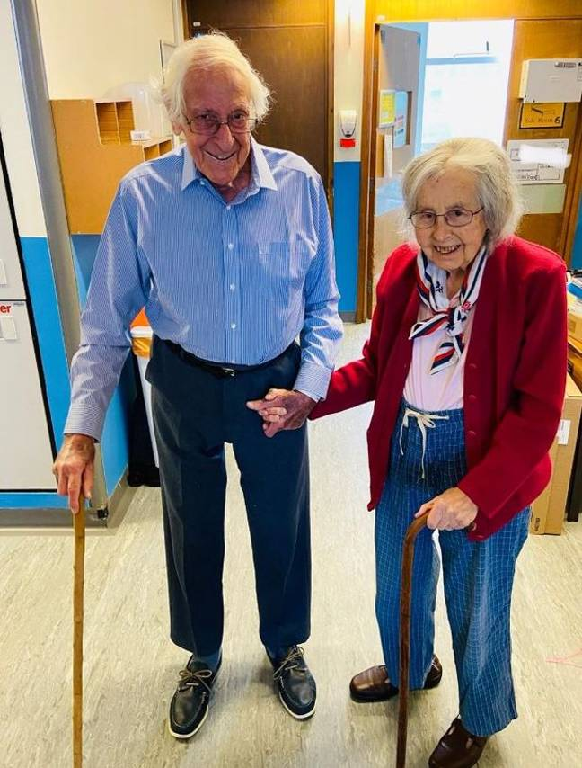 Mr and Mrs England were discharged from hospital after three weeks. Credit: BPM