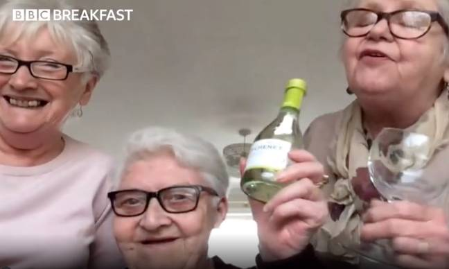 They're looking forward to cracking open a bottle of wine and watching The Crown. Credit: BBC Breakfast