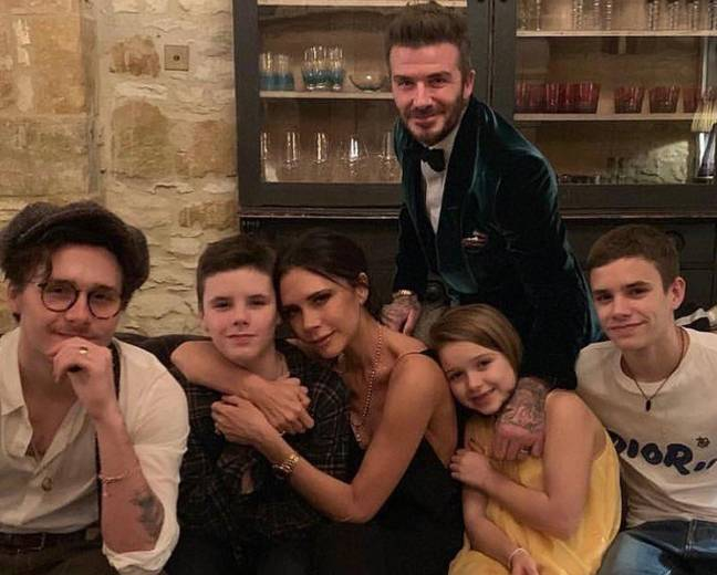 Victoria hugging Cruz here in happier times, before she totally f****d up his breakfast. Credit: Instagram/Victoria Beckham
