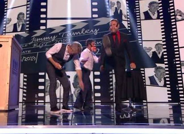 The 'awkward' moment Cowell seemed to storm off stage. Credit: ITV