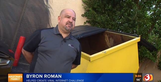 Román being interviewed by a Phoenix news channel. Credit: CBS 5
