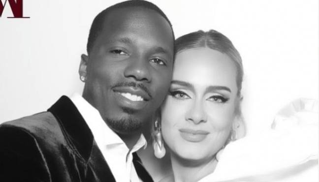 Adele and Rich Paul in a photograph on Instagram. (Credit: Instagram/@adele)