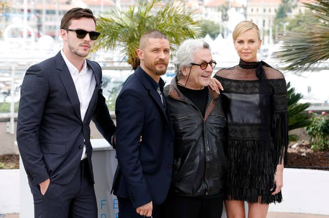 Miller and the cast of Mad Max: Fury Road. Credit: PA