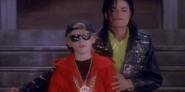 Culkin and Jackson in the 'Black or White' video. Credit: Epic Records