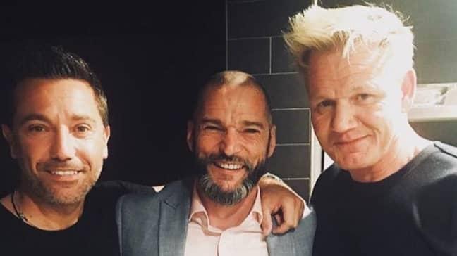Gordon Ramsay, Gino D'Acampo And Fred Sirieix. Credit: Instagram/iamginodacampo