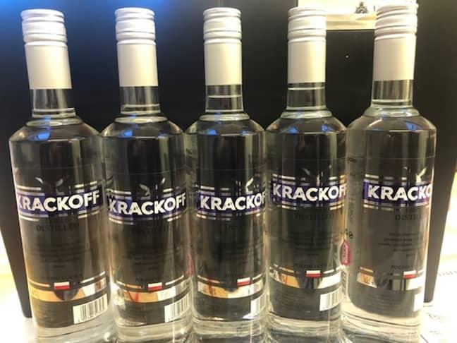 The vodka. Credit: Lincolnshire Police