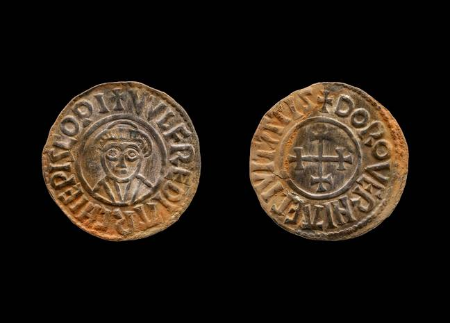 Two of the coins recovered. Credit: SWNS