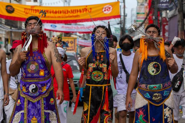 The Phuket Vegetarian Festival 2020. Credit: PA