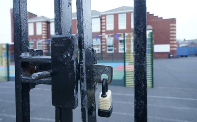 Stock image of school gates. Credit: PA
