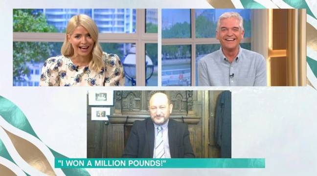 Donald spoke to Holly and Phil about his big win. Credit: ITV